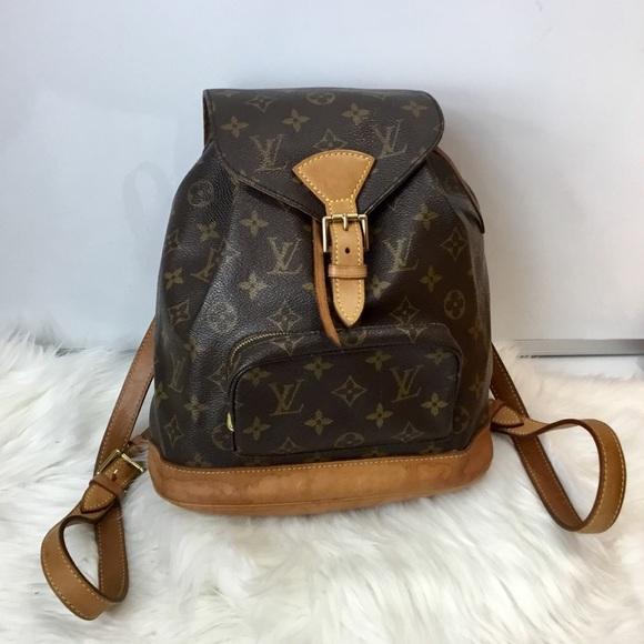 0e4295d494bc Louis Vuitton Handbags - 100% Authentic Louis Vuitton Montsouris Backpack